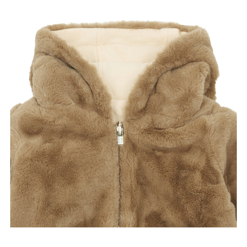 Faux Fur Reversible Zip-up Jacket