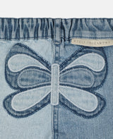 Butterfly Slim Denim Pants