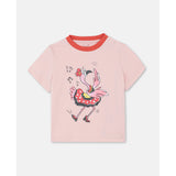 Dancing Flamingo Cotton T-shirt