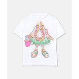 Trompe-L'Oeil Flamingo Cotton T-shirt Baby
