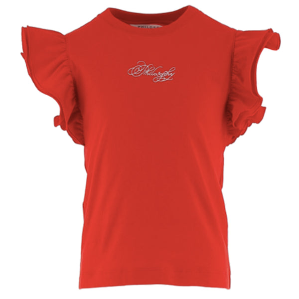 Red T-Shirt with Ruffles