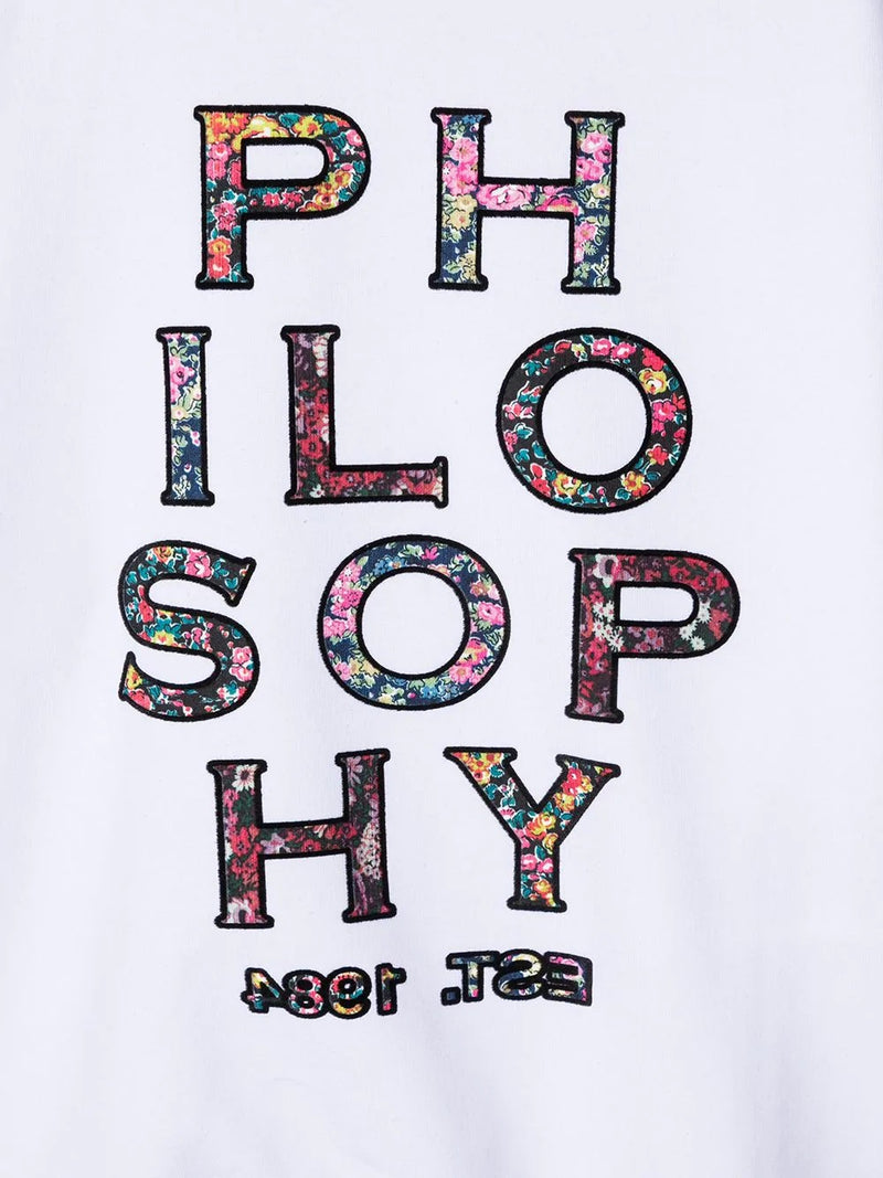 Sweater White Philosophy Logo