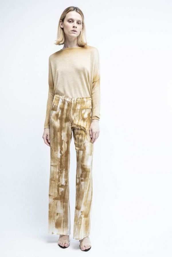 Silk Pants with Brushes