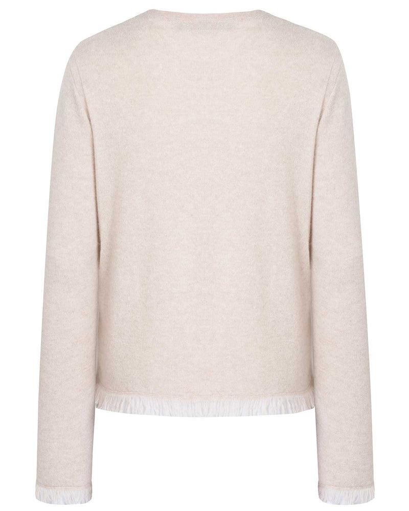 Cashmere Sweater with Fringes