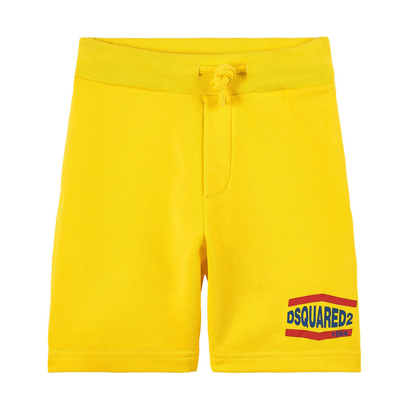 Yellow Branded Sweatshorts
