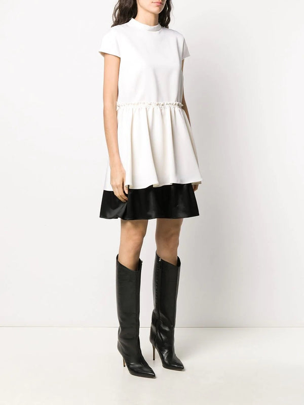Shortsleeved Mini-Dress Doubelayers
