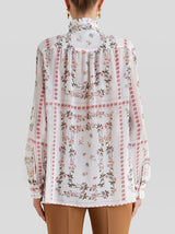 PLISSÉ SHIRT WHITE MULTI