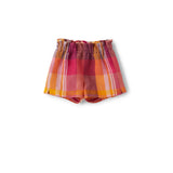 Shorts mit Karomuster in pink