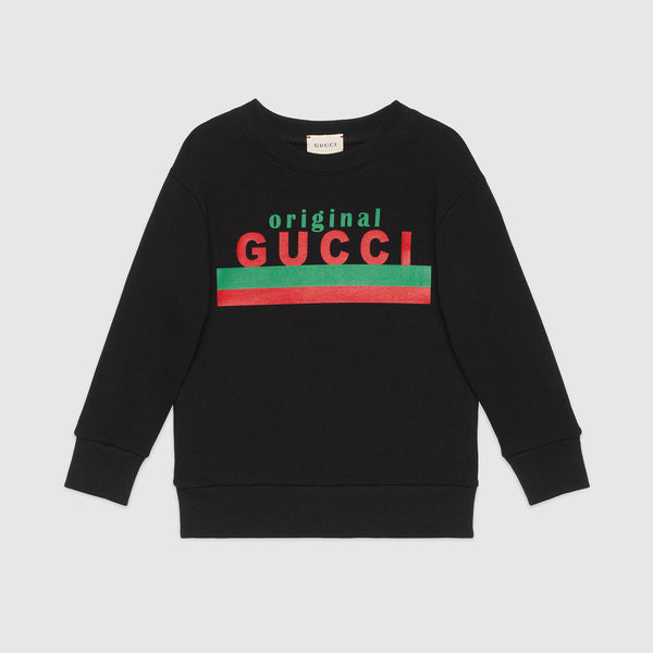 "Children's ""Original Gucci"" print sweatshirt"