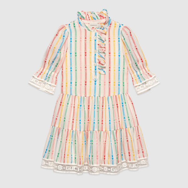 Children's GG and star cotton dress