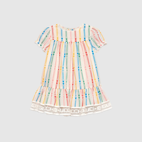 Baby Interlocking GG and star cotton dress