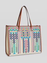 SHOPPING BAG WITH EMBROIDERY
