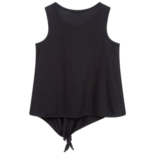 Black Top with Knot and Logo