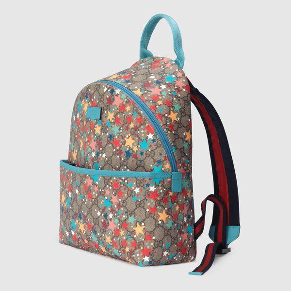 Children's GG star print backpack