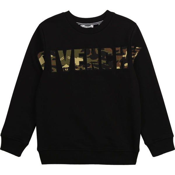 Camouflage logo-embroidered rib-trimmed sweatshirt
