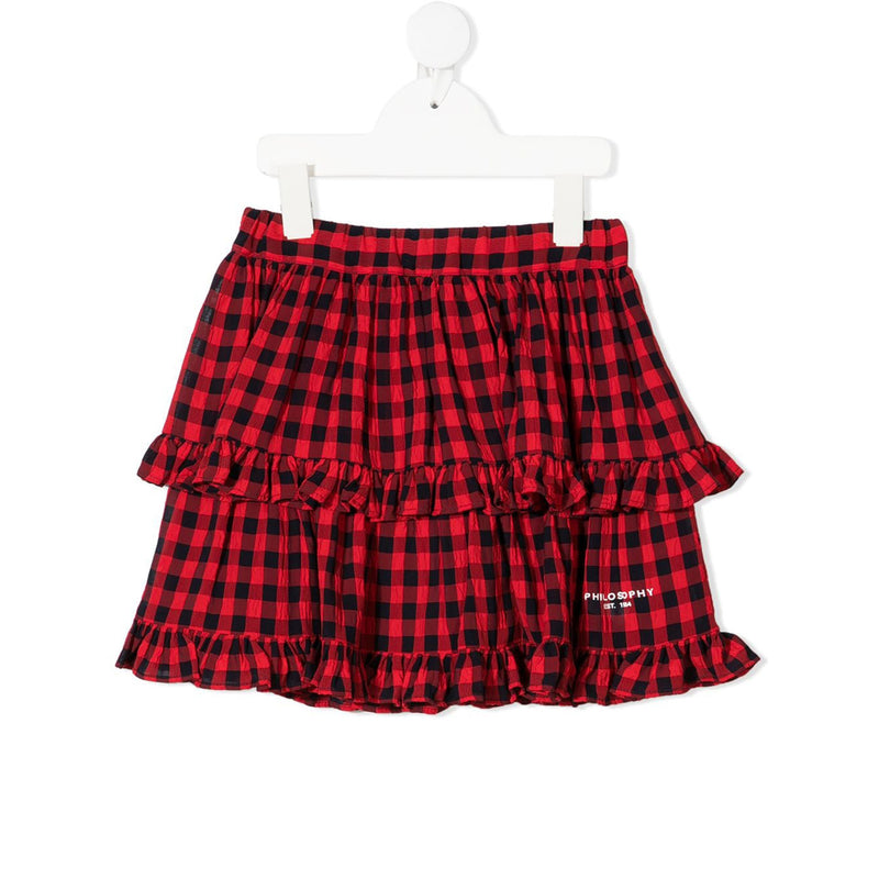Skirt with Check-Pattern