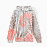 TIE-DYED CARDIGAN MILK WHITE