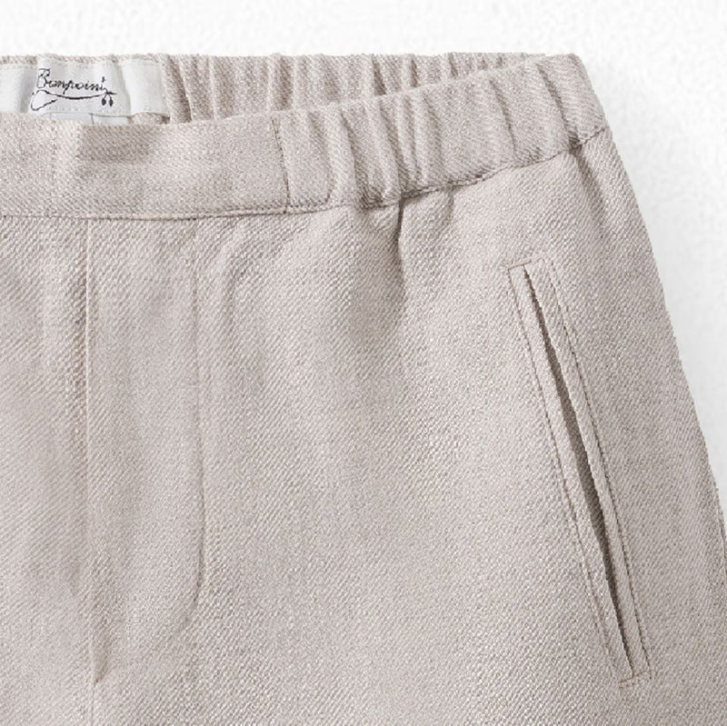 SHORTS WITH WELT POCKETS NATURAL