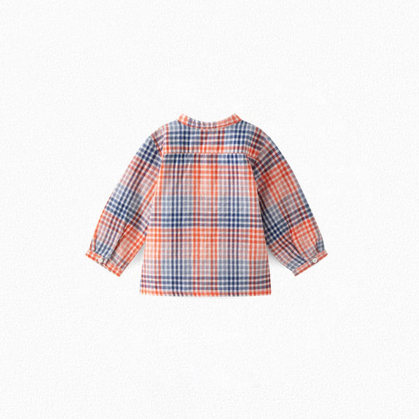 CHECKED TUNIC RED