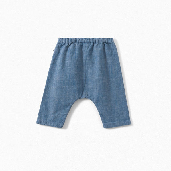 COTTON CHAMBRAY PANTS INK
