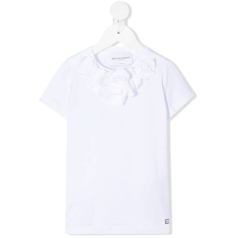 Ruffle-collar T-shirt