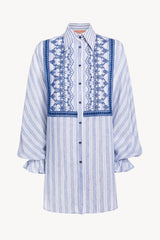 Oversize Shirt With Cutwork Embroidery