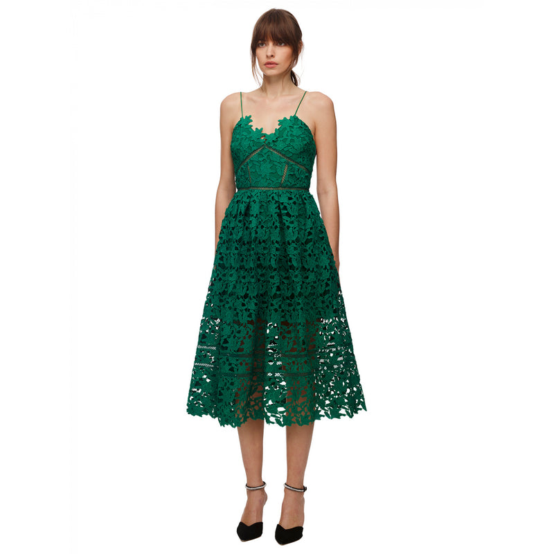 Green Azaelea Midi Dress