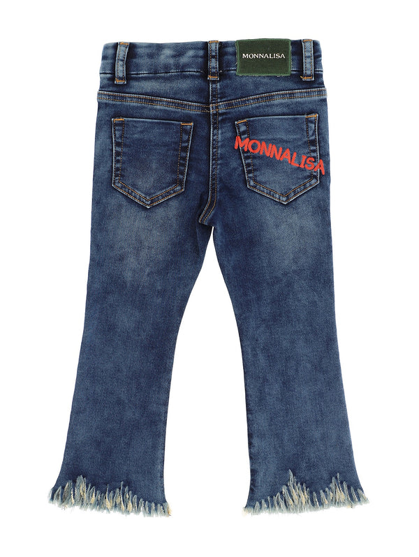 Denim and rhinestone jeans