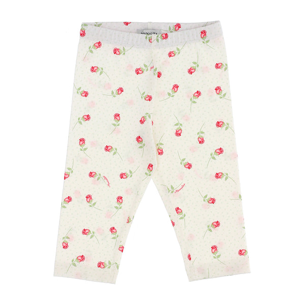 Jersey leggings flower buds print