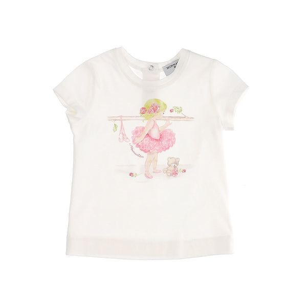 Jersey T-shirt with ballerina print