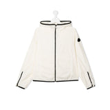 hooded contrasting trim jacket