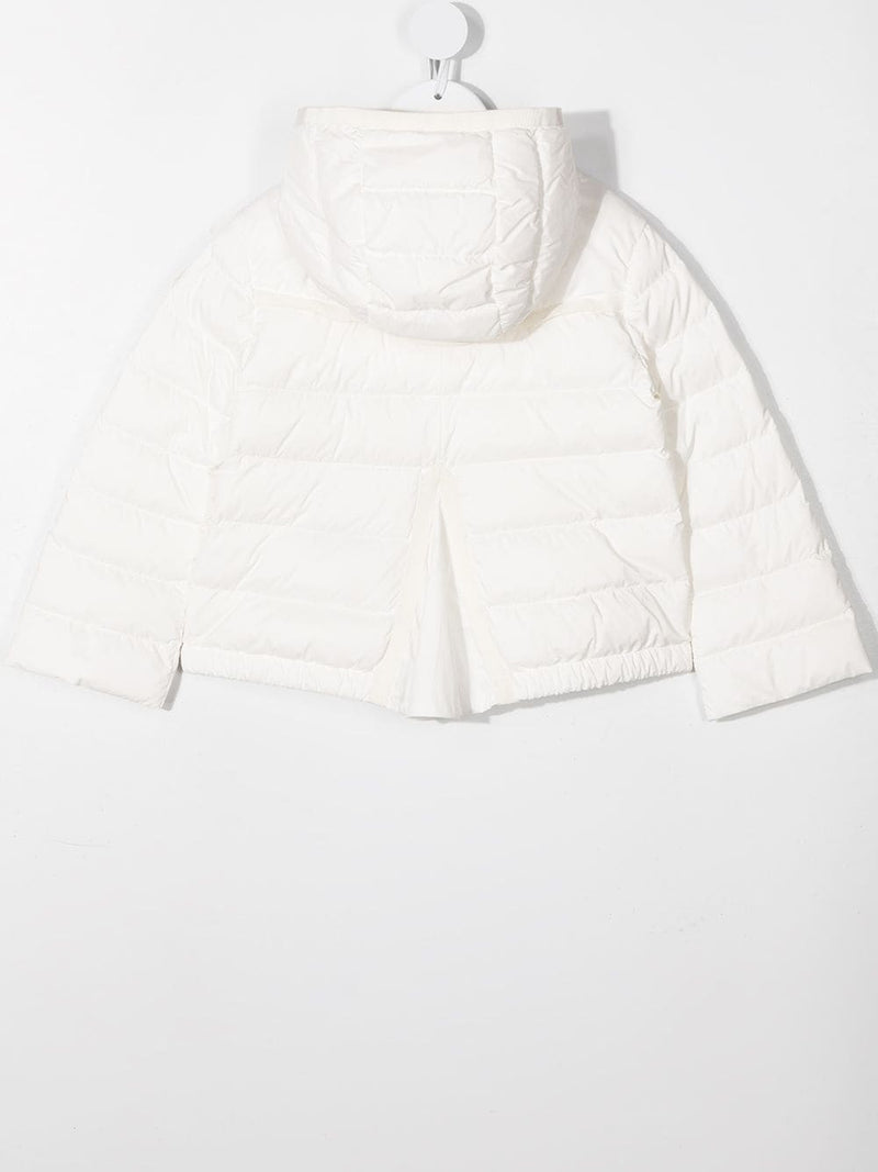 hooded down-padded jacket white