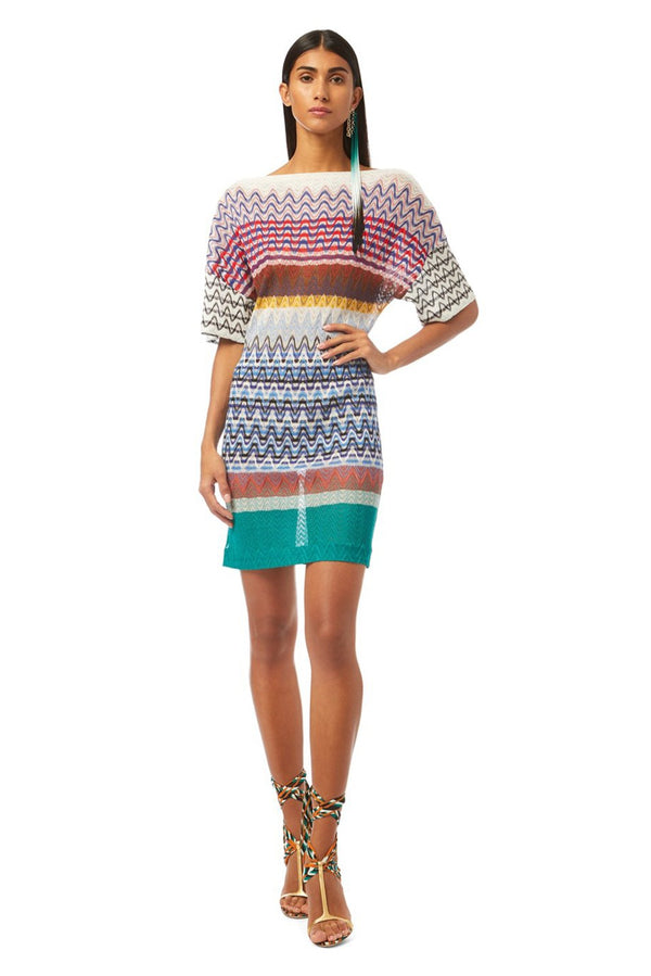 Multicolor Mini Dress