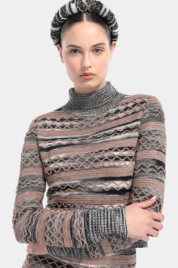 Interwoven Pattern Jumper