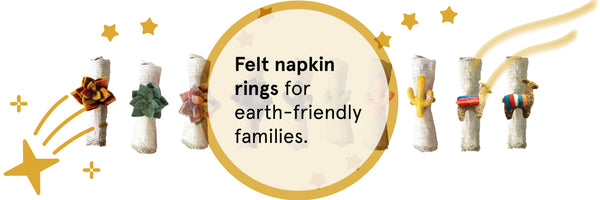 Felt Napkin Rings for Earth-Friendly Families