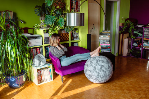 yoga ball covers work from home