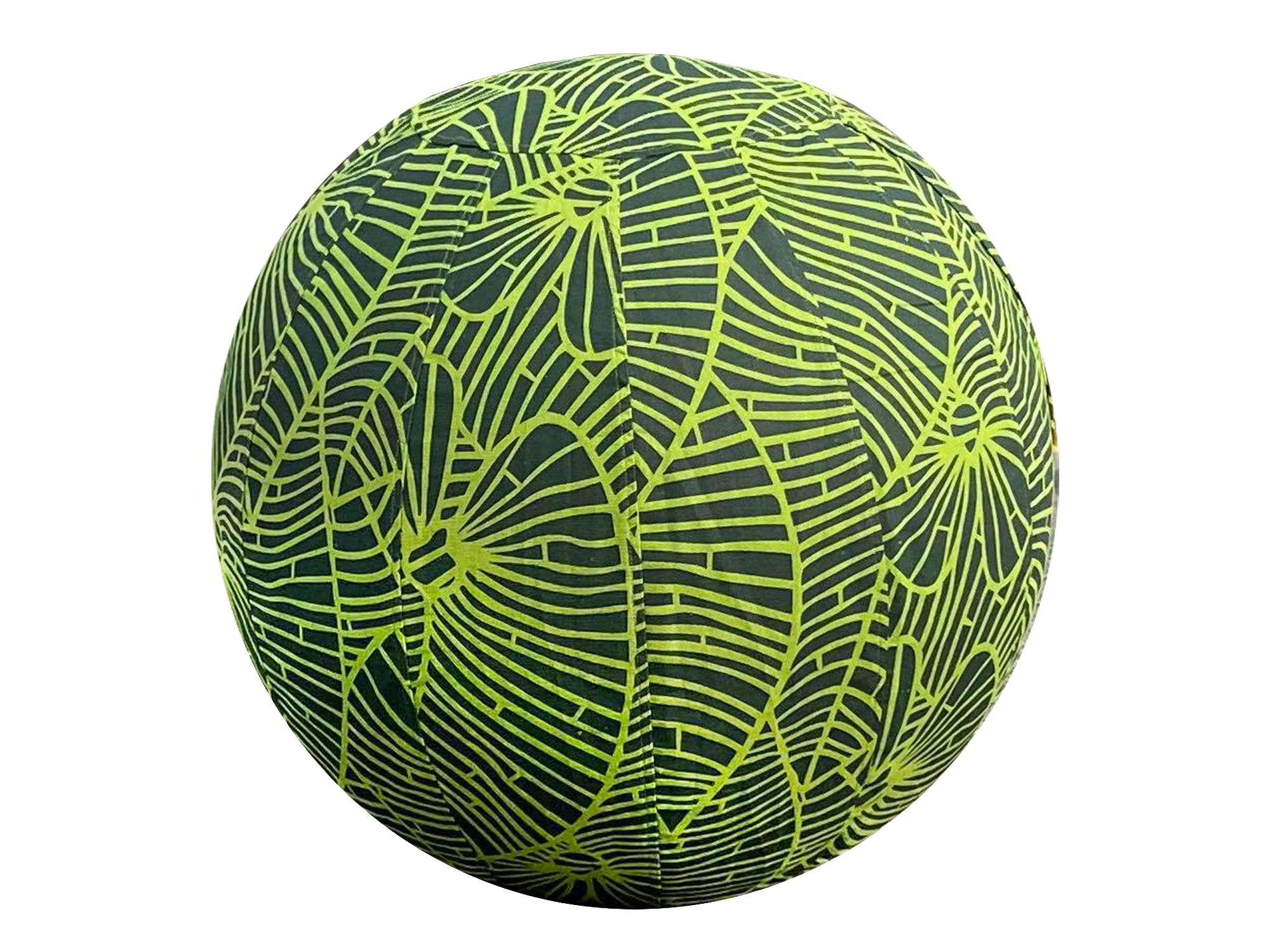 55cm Balance Ball / Yoga Ball Cover: Jungle Green Palm Leaf