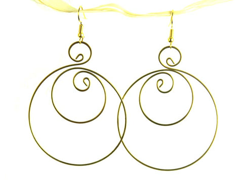 Balance Brass Hoop Earrings