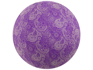 45cm Balance Ball / Yoga Ball Cover: Purple Paisley