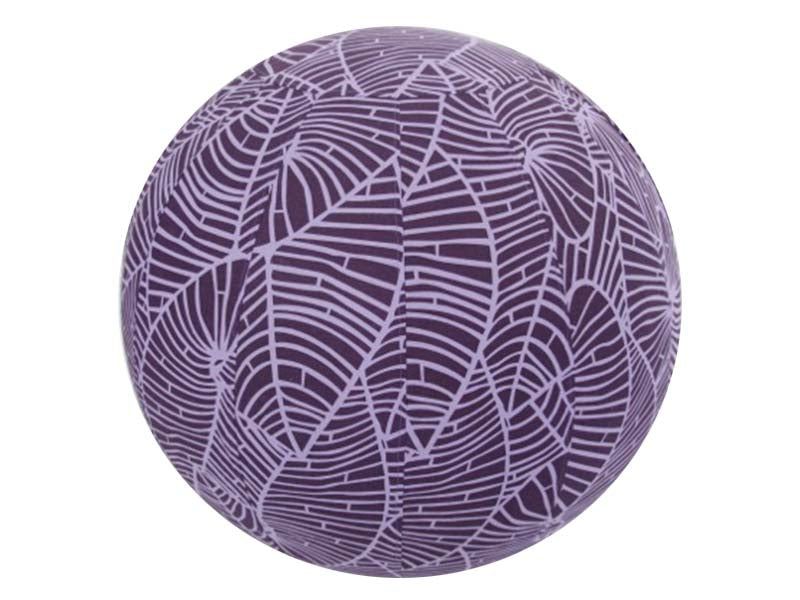 65cm Balance Ball / Yoga Ball Cover: Purple Palm Leaf