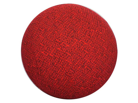 55cm Balance Ball / Yoga Ball Cover: Brick Indigenous - Global Groove Life