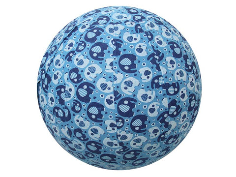 45cm Balance Ball / Yoga Ball Cover: Blue Elephant - Global Groove Life