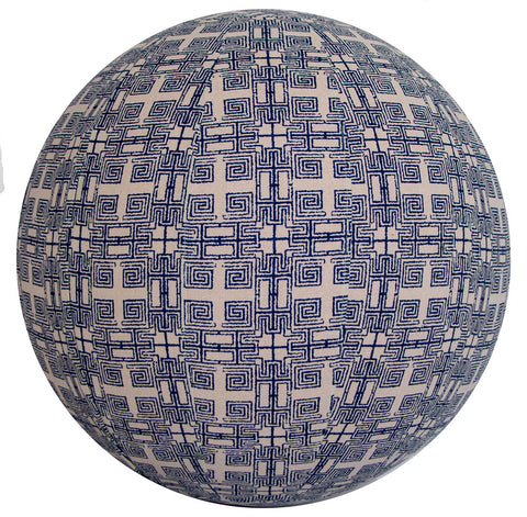 55cm Balance Ball / Yoga Ball Cover: Indigo Maze - Global Groove Life