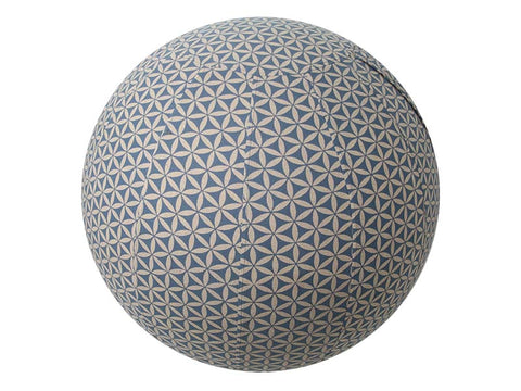 75cm Balance Ball / Yoga Ball Cover: Grey Flower of Life