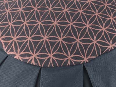 Meditation cushion in cotton canvas, Flower of Life - GREY - Global Groove Life