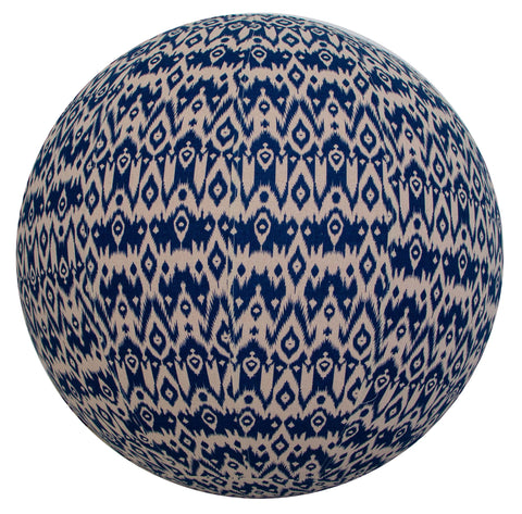 75cm Balance Ball / Yoga Ball Cover: Indigo Ikat - Global Groove Life