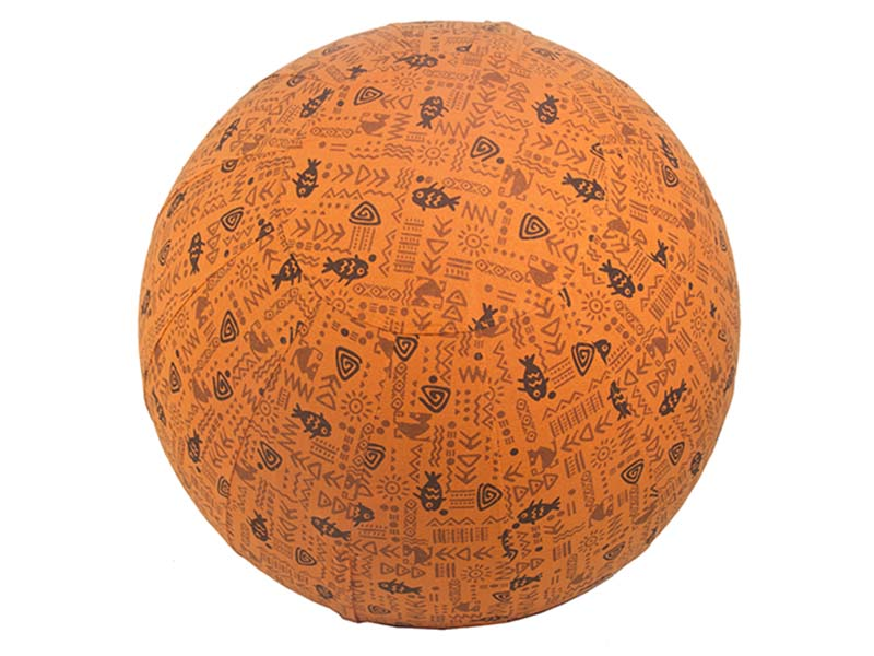 55cm Balance Ball / Yoga Ball Cover: Orange Fish