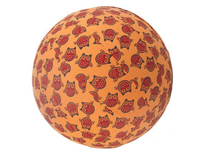 45cm Balance Ball / Yoga Ball Cover: Orange Owls