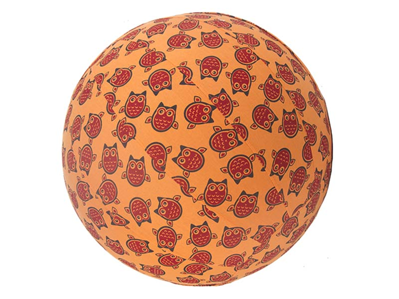 55cm Balance Ball / Yoga Ball Cover: Orange Owls