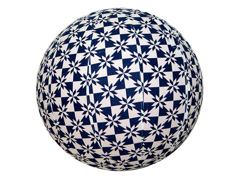75cm Balance Ball / Yoga Ball Cover: Indigo Origami - Global Groove Life